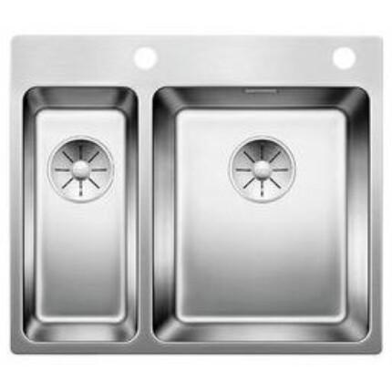 BLANCO SOLIS 340/180-IF/A fényezett rozsdamentes acél mosogatál PushControl lefolyó távműködtetővel