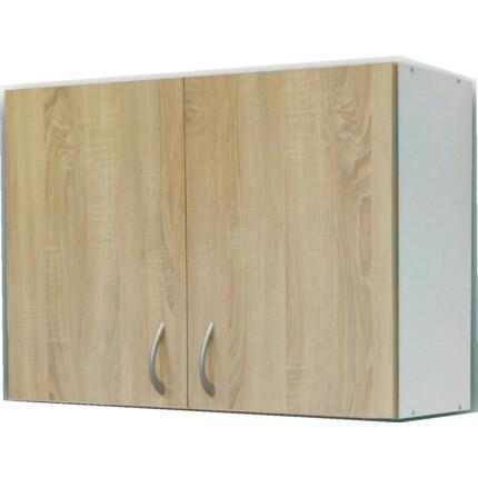 ECO-NOVA felsőszekrény 1M-2M mosogatós szekrényhez - fehér-tölgy