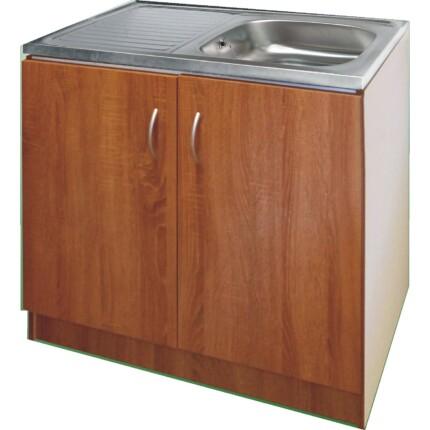ECO-NOVA mosogatós szekrény 1M - sötét tölgy