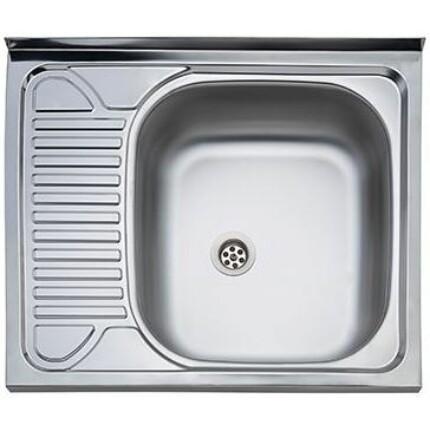 Kevmil K-60x60 teletetős egymedence csepptálcás rozsdamentes mosogató - csepptálca bal oldalon