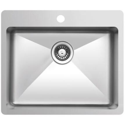 Kevmil MEP 600.500 Exkluzív design extra mély egymedencés rozsdamentes mosogató