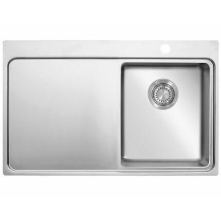 Kevmil MMP 780.510 Extra mély prémium minőségű egymedencés csepptálcás rozsdamentes mosogató