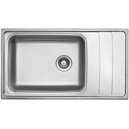 Kevmil KM-LT-915.500 Extra mély óriás egymedencés csepptálcás rozsdamentes mosogató