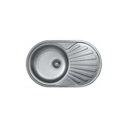 Kevmil KM-780 íves egymedencés csepptálcás rozsdamentes mosogató