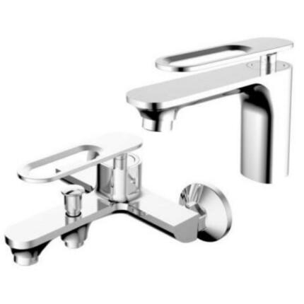 PIAZZA Trend - mosdó és kádtöltő csaptelep szett 2-az egyben - zuhanyszettel