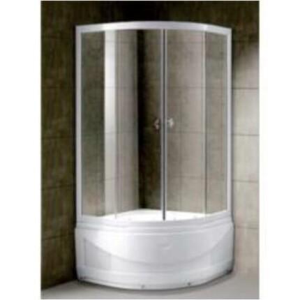 AquaRain SZONJA 90x90 cm-es íves magas zuhanytálcás zuhanykabin - átlátszó üveggel