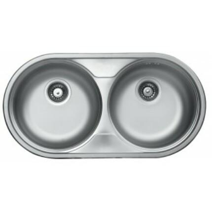 Rozsdamentes kétkörtálas mosogató