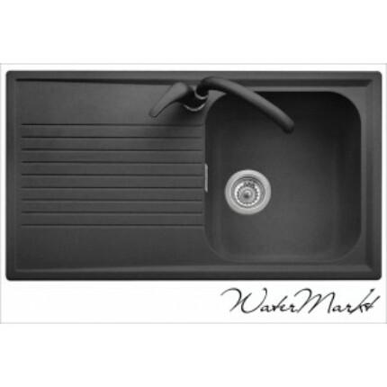 Plados PL0861 gránit mosogató - metál fekete