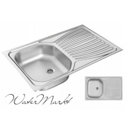 Kevmil KM-800 egymedencés csepptálcás rozsdamentes mosogató