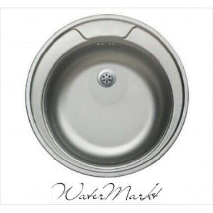 Kevmil KM-48 kör alakú egymedencés rozsdamentes mosogató