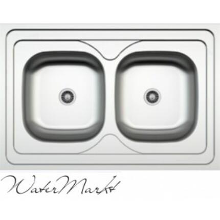 Kevmil kétmedencés teletetős 60x90 cm-es rozsdamentes mosogató