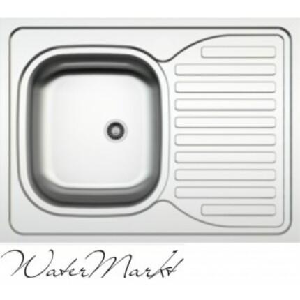 Kevmil teletetős egymedencés csepptálcás 60x80 cm-es rozsdamentes mosogató