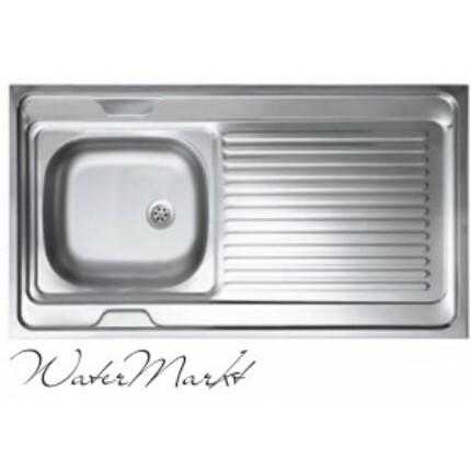 Kevmil teletetős egymedencés csepptálcás 60x100 cm-es rozsdamentes mosogató