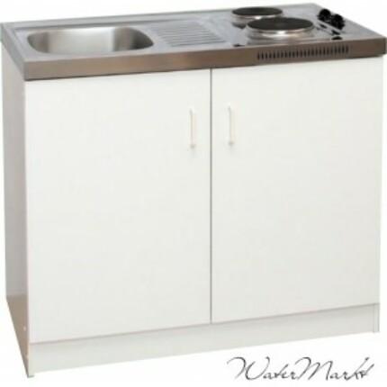 ECO-Minikonyha alsószekrény, mosogató, kétzónás főzőlap egyben.