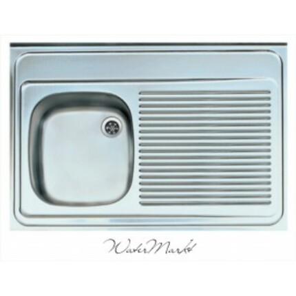 ALVEUS CLASSIC-50 Teletetős egymedence csepptálcás  rozsdamentes mosogató - Medence bal kézre essen