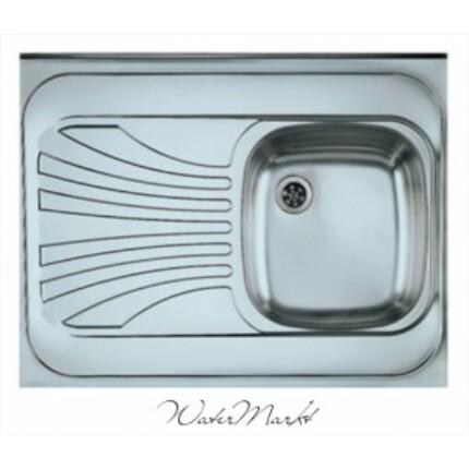ALVEUS CLASSIC-30 Teletetős egymedence csepptálcás  rozsdamentes mosogató - Medence jobb kézre essen