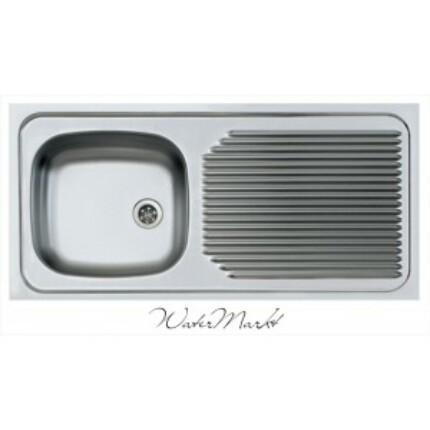 ALVEUS COMPACT-50 Teletetős egymedence csepptálcás  rozsdamentes mosogató