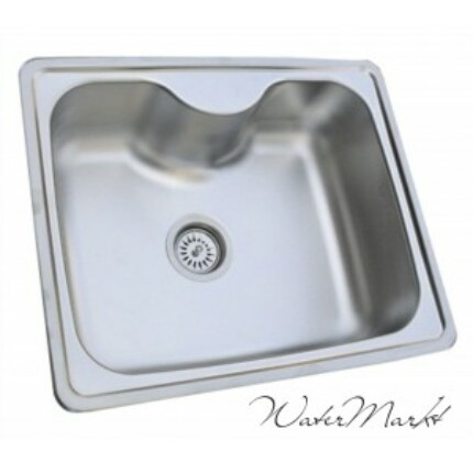Kevmil KM-60X50 belsőívű egymedencés rozsdamentes mosogató