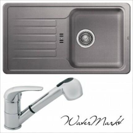 BLANCO FAVOS MINI Silgranit mosogatótál + BVA-8 króm zuhanyfejes csaptelep - alumetál