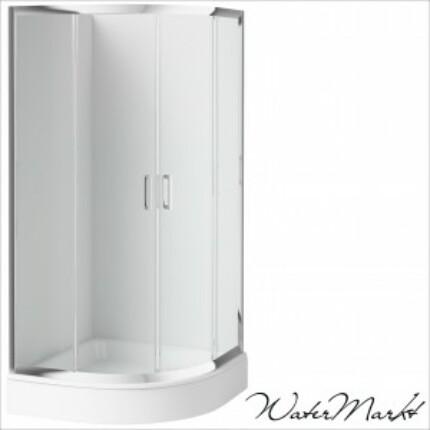 Deante FUNKIA 90x90 cm-es íves zuhanykabin + zuhanytálca - Átlátszó