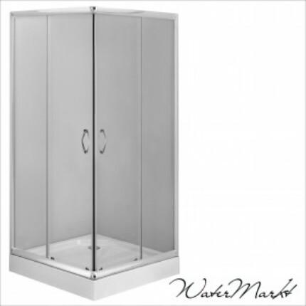 Deante FUNKIA 80x80 cm-es szögletes zuhanykabin + zuhanytálca - Átlátszó