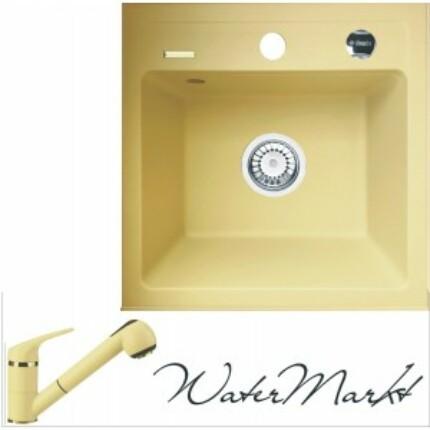 DEANTE ZORBA ZQZ 1103 gránit mosogatótál + színazonos zuhanyfejes gránit csaptelep - Pezsgő