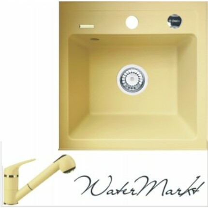 DEANTE ZORBA ZQZ1103 gránit mosogatótál + színazonos zuhanyfejes gránit csaptelep - Pezsgő