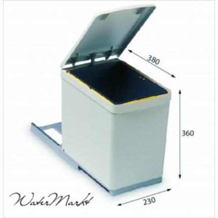 ALVEUS ALBIO-10 16L-es egy fakkos beépíthető hulladéktároló