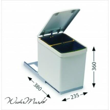 ALVEUS ALBIO-10/2 2x7,5L-es két fakkos beépíthető hulladéktároló