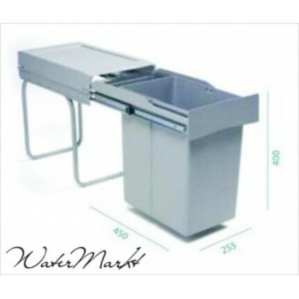 ALVEUS ALBIO-20 21+1L-es egy fakkos beépíthető hulladéktároló