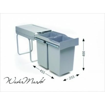 ALVEUS ALBIO-20/2 2X14L-es két fakkos beépíthető hulladéktároló