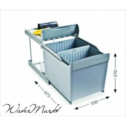 ALVEUS ALBIO-30/2 2X16L-es két fakkos beépíthető hulladéktároló