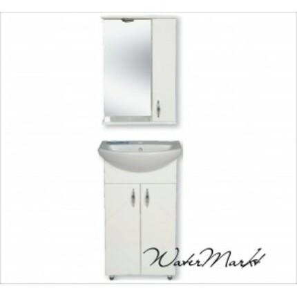 Libra 500 komplett fürdőszoba bútor világítással - Felső szekrény jobb kézre essen