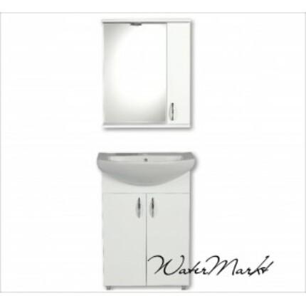 Libra 600 komplett fürdőszoba bútor világítással - Felső szekrény jobb kézre essen