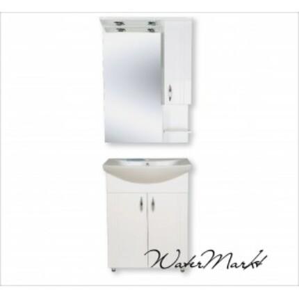 Libra 650 komplett fürdőszoba bútor világítással - Felső szekrény jobb kézre essen