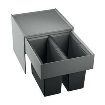 BLANCO SELECT 45/2 hulladéktároló - fekete