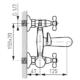 Ferro RETRO XD11 fali kádtöltő csaptelep zuhanyszettel